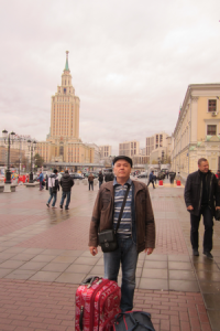 Я в Москве.